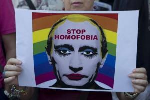 Une affiches contre l'homophobie en Russie