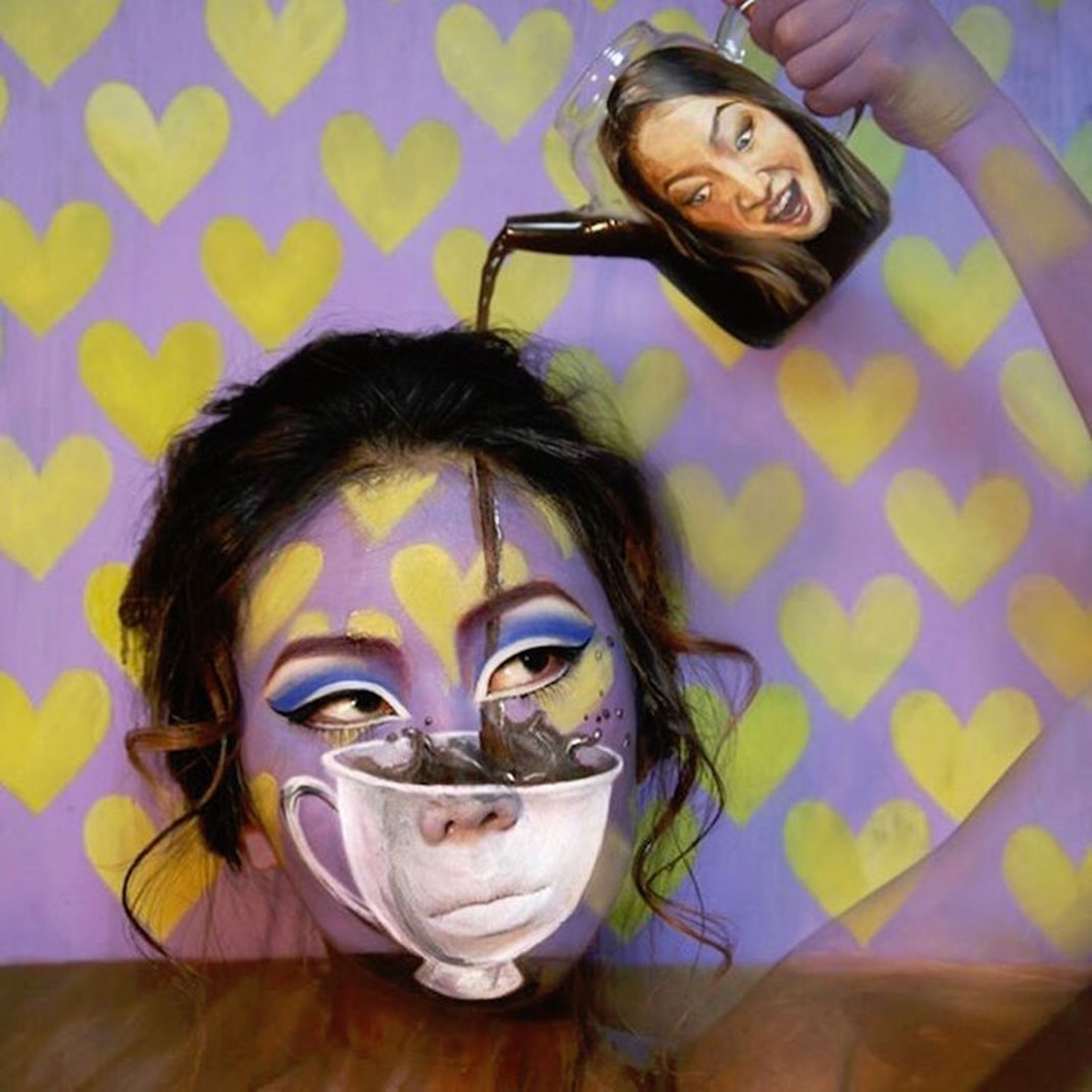 Dain yoon joue avec votre perception en peignant des for Illusion d optique peinture