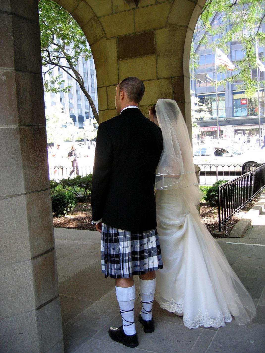Mariage écossais via Shutterstock