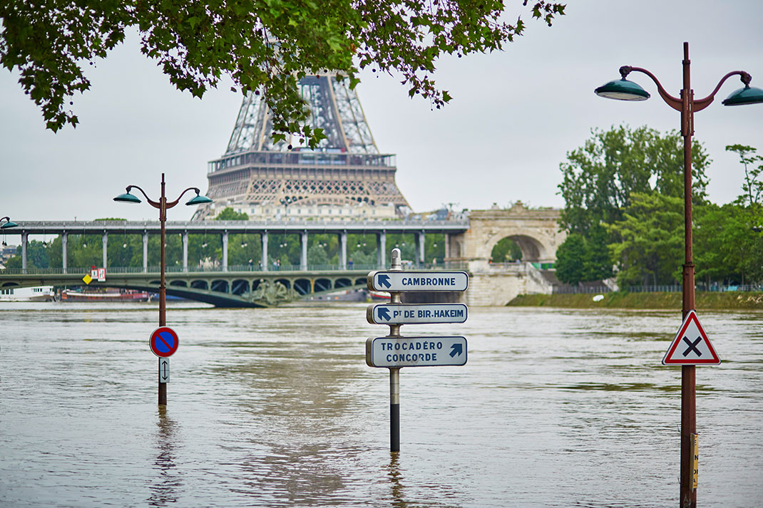 Inondation à Paris via Shutterstock