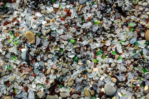 Glass Beach en Californie via John Krzesinski