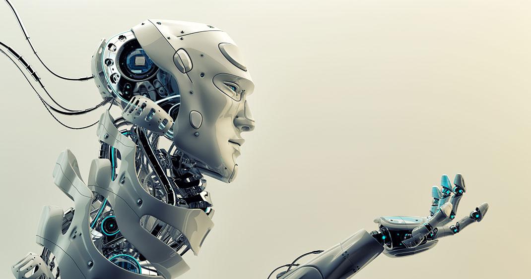 Un robot via Shutterstock