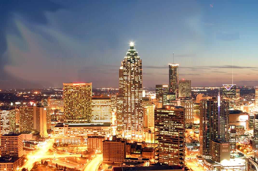 La ville d'Atlanta aux États-Unis