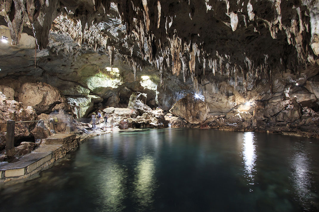 Des stalactites via Shutterstock