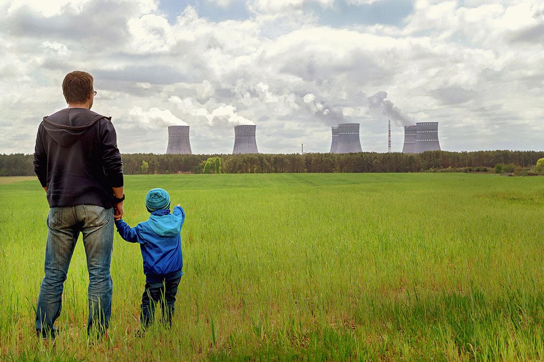 Des émissions contenant des particules polluantes via Shutterstock