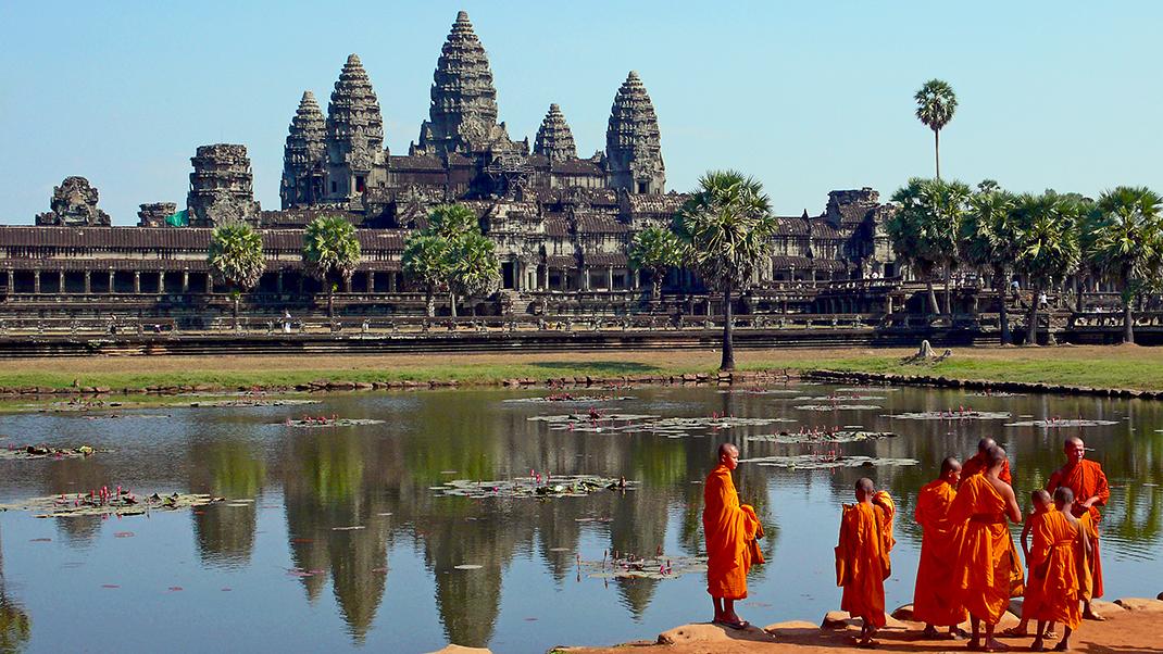 Temple Bouddhiste, Angkor, Cambodge