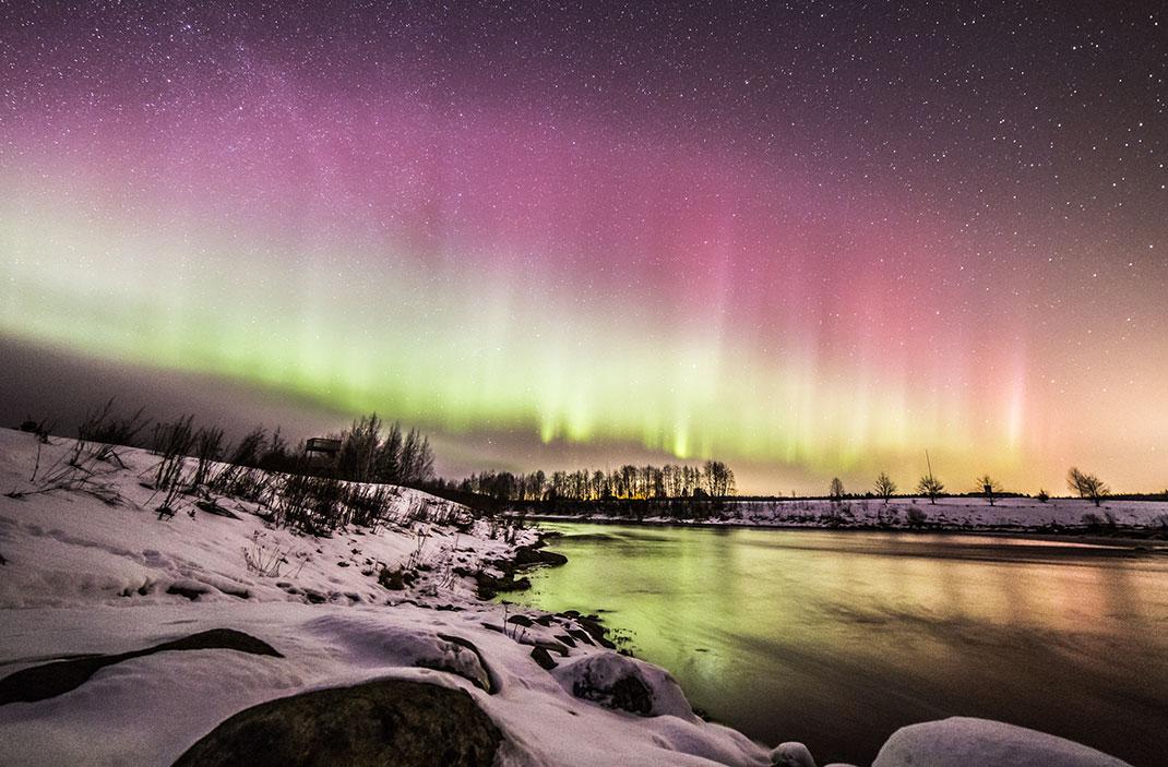 Une aurore boréale via Shutterstock