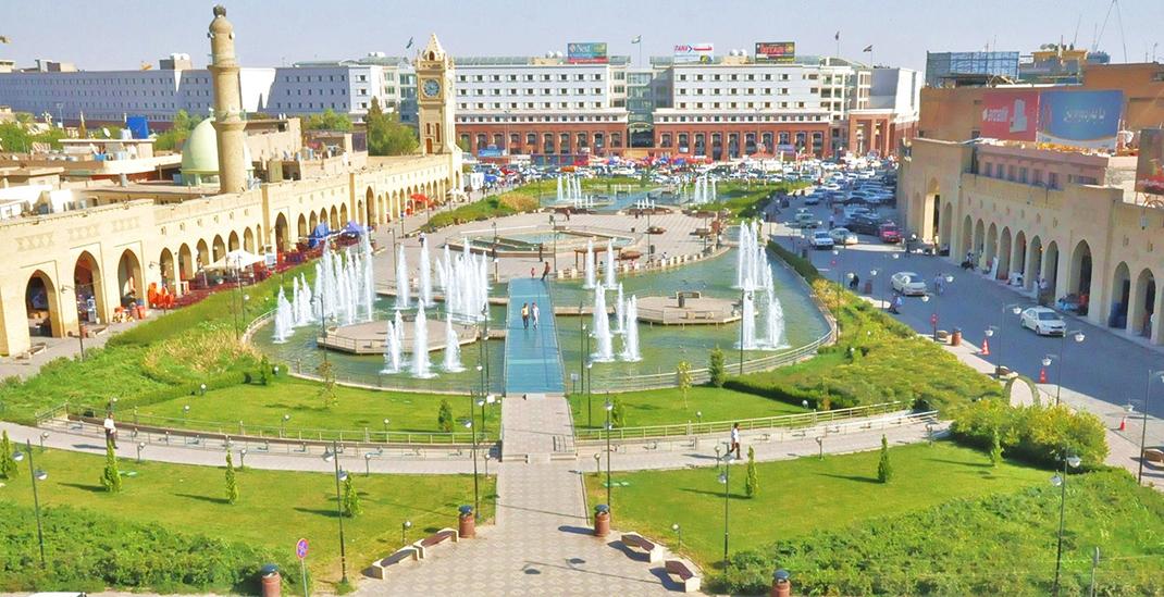 Ville d'Erbil, Kurdistan Irakien