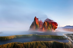 Fly Geyser, Nevada via Shutterstock