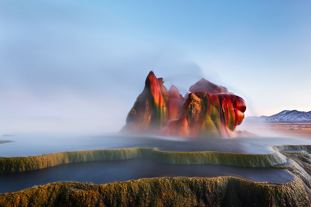 Fly Geyser, Nevada via Shutterstock