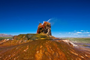Fly Geyser Nevada via Shutterstock