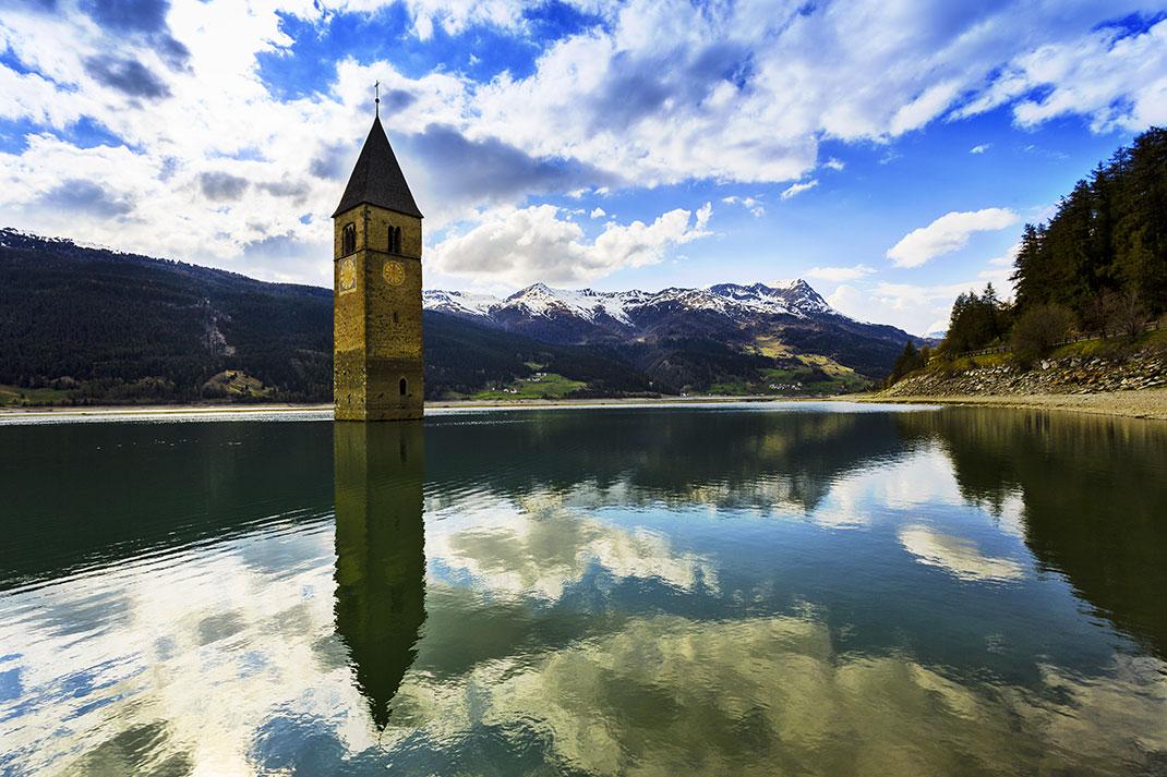 Le lac de Resia via Shutterstock
