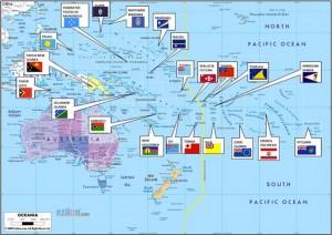 Les pays participant au Pacific Island Development Forum