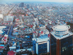 Ville de Phnom Penh vue du ciel