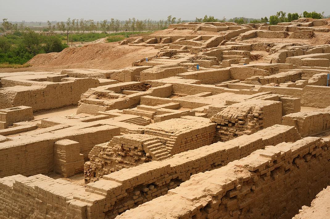 Ruines de Mohenjo-Daro, ville Indus, Pakistan