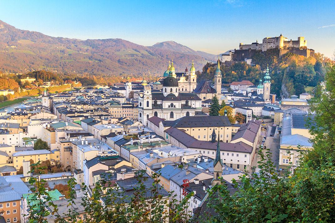 La ville de Salzburg via Shutterstock
