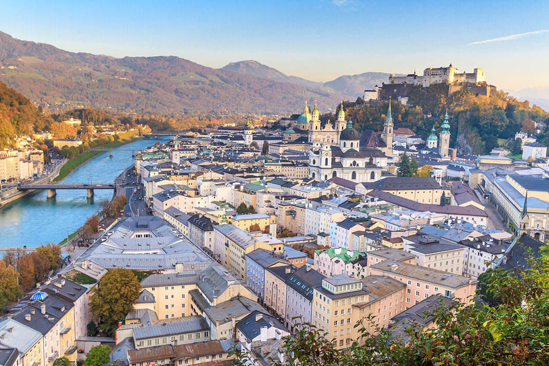 Salzbourg, la ville de Mozart via Shutterstock
