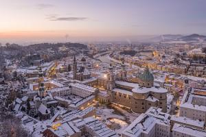 Salzbourg en hiver via Shutterstock