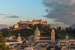 La ville de Salzbourg via Shutterstock