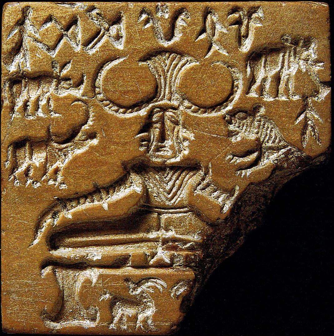"""Potentielle représentation Indus d'un """"yogi"""" (un sage dans la culture indienne)"""