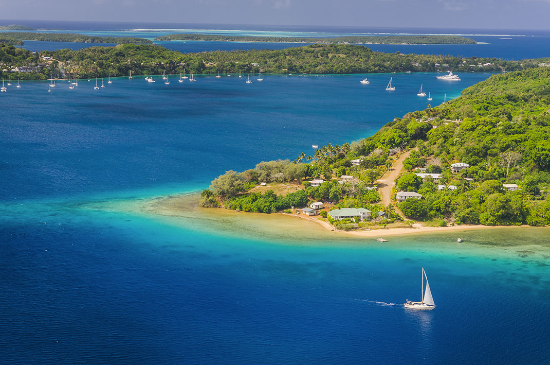 Les îles Tonga, membres du Pacific Island Development Forum, via Shutterstock