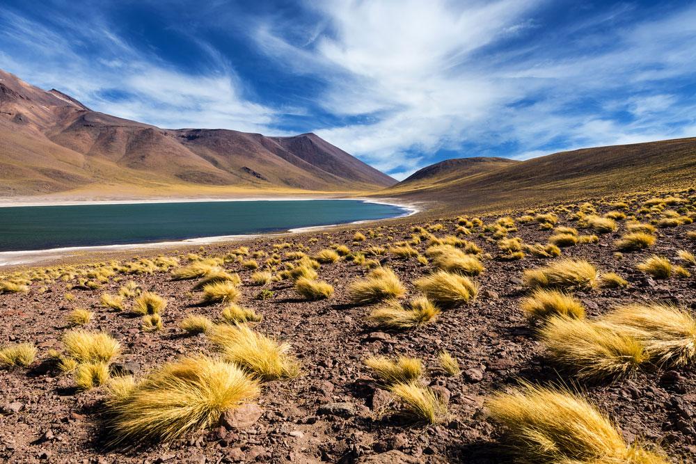 Le lagon dans le désert de Atacama au Chili via Shutterstock
