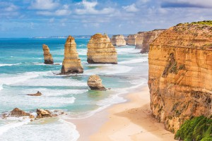 Les 12 apôtres en Australie via Shutterstock