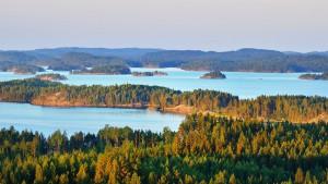 Le labyrinthe bleuté finlandais via Shutterstock