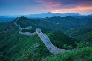 Le soleil se lève sur la Grande Muraille de Chine via Shutterstock