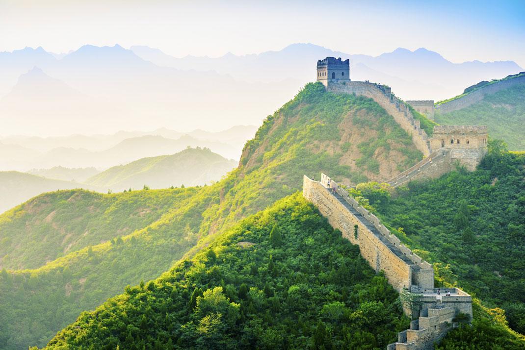 La Grande Muraille de Chine à Jinshanling via Shutterstock