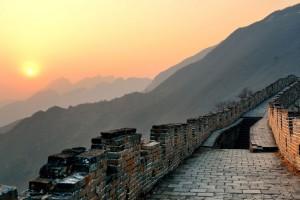 Vue des remparts de la Grande Muraille de Chine via Shutterstock