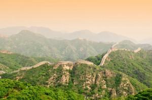 La Grande Muraille de Chine près de Pékin via Shutterstock