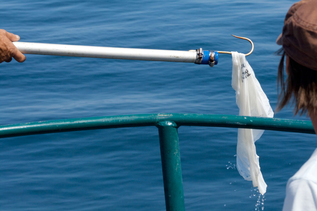 Un sac en plastique retrouvé dans l'océan