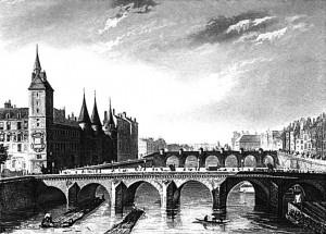 Le pont du change dans le Paris du XIXe siècle