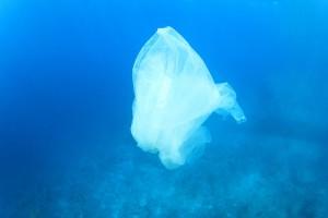 Sac plastique dans l'océan via Shutterstock