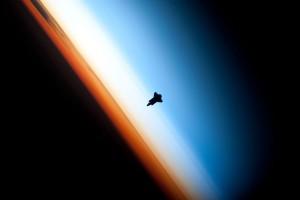 L'entrée dans la stratosphère d'un objet spatial.