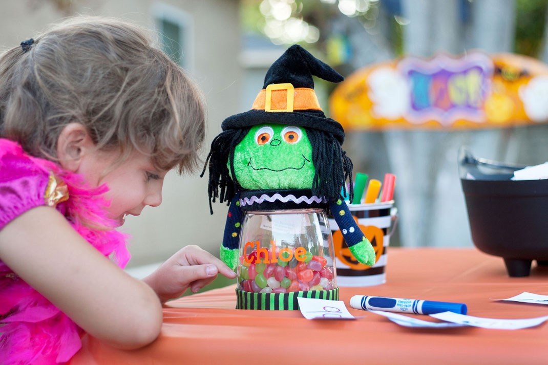 Un enfant à Halloween