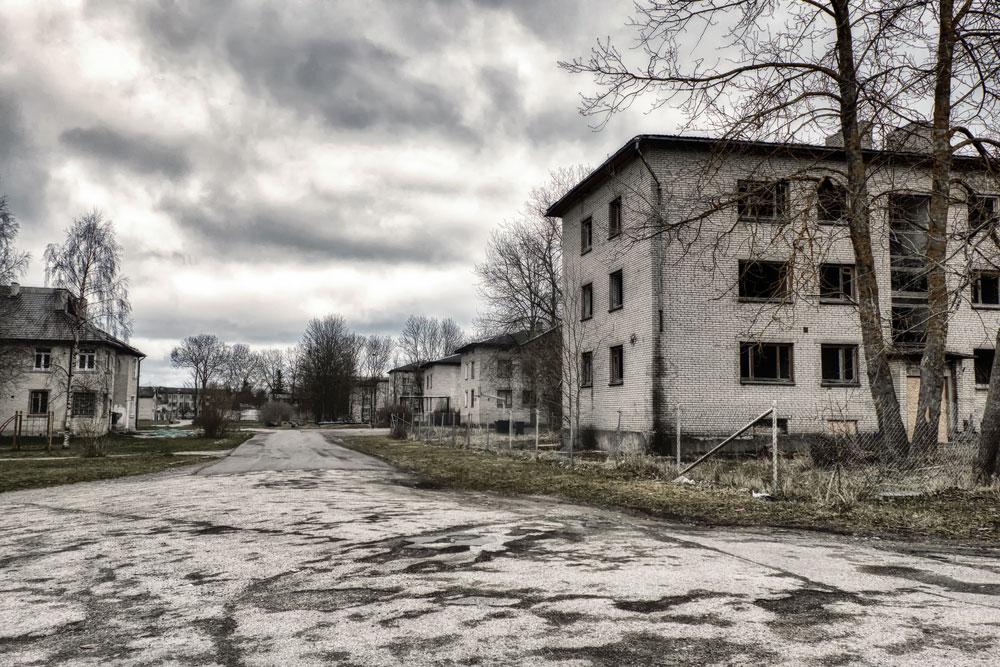 Une ville abandonnée via Shutterstock