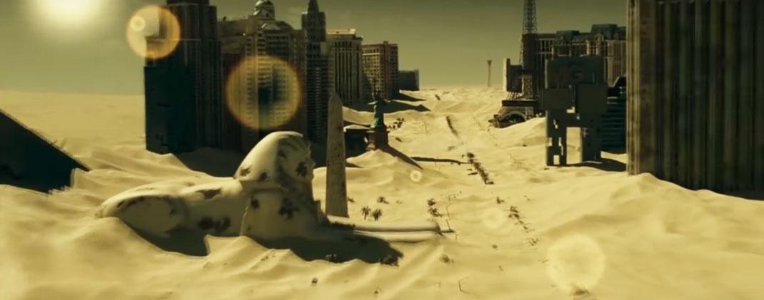 Las Vegas recouvert de sable