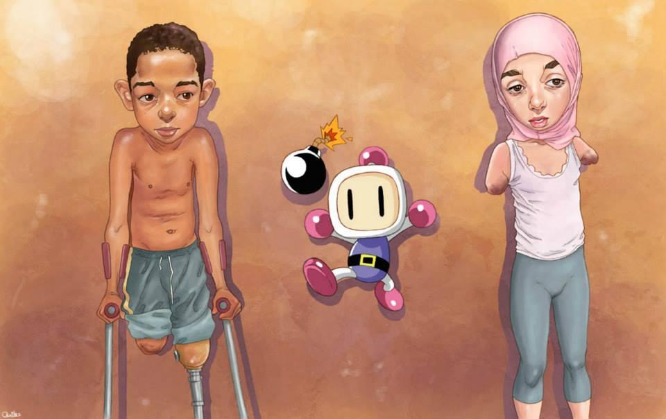 Les enfants mutilés par les bombes passés sous silence