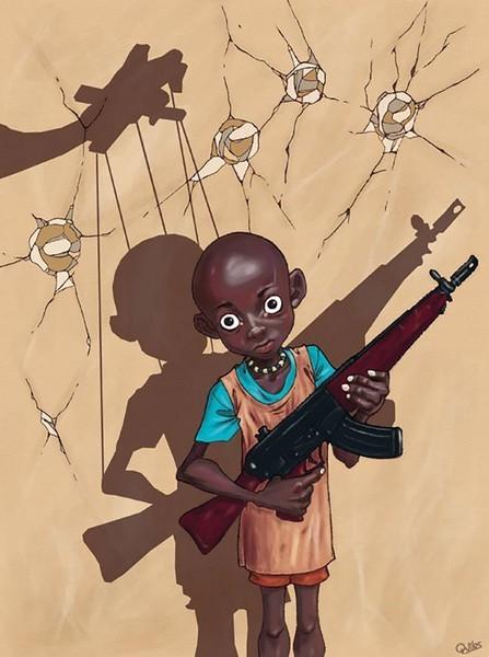 Les enfants soldats les tristes marionnettes du pouvoir