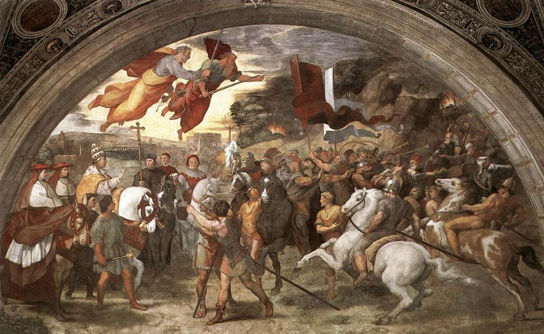La rencontre en Léon I et Attila peinte par Raphael