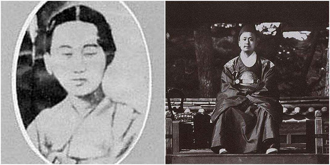 La reine Min et son mari, le roi Qojong
