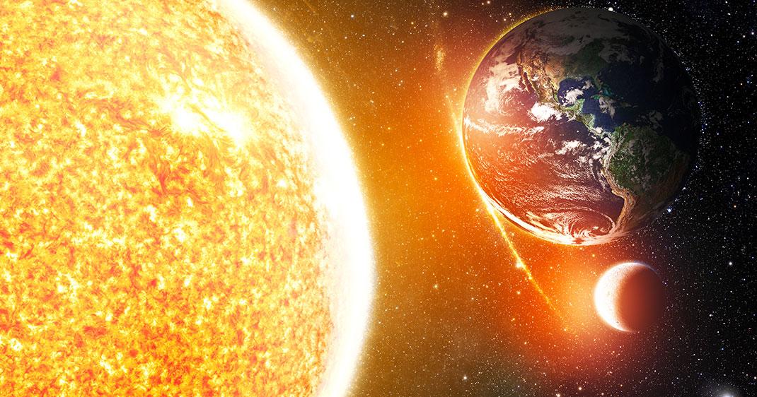 le soleil et la terre