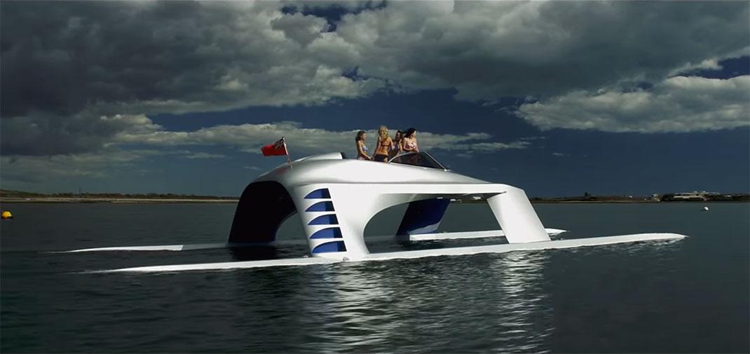 Ce catamaran éco-conçu fonctionne grâce à la dynamique des fluides