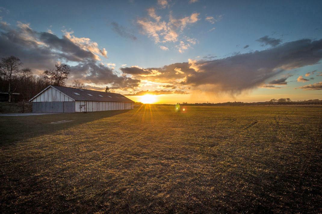 Un coucher de soleil au Danemark