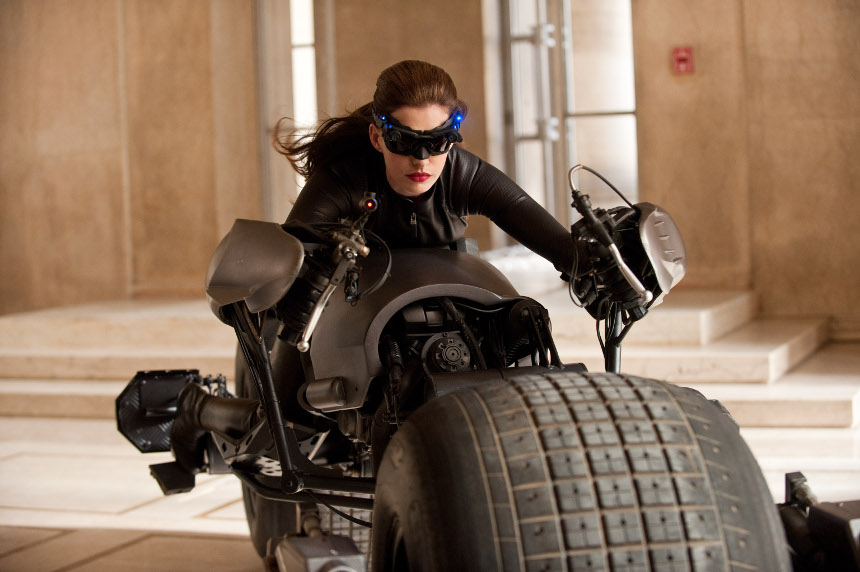 "ANNE HATHAWAY as Catwoman in Warner Bros. Pictures' and Legendary Pictures' action thriller ""THE DARK KNIGHT RISES,"" a Warner Bros. Pictures release. TM and © DC Comics"