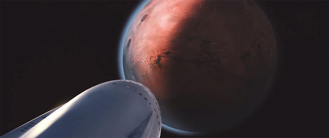 Le premier vol habité pour Mars est prévu en 2023