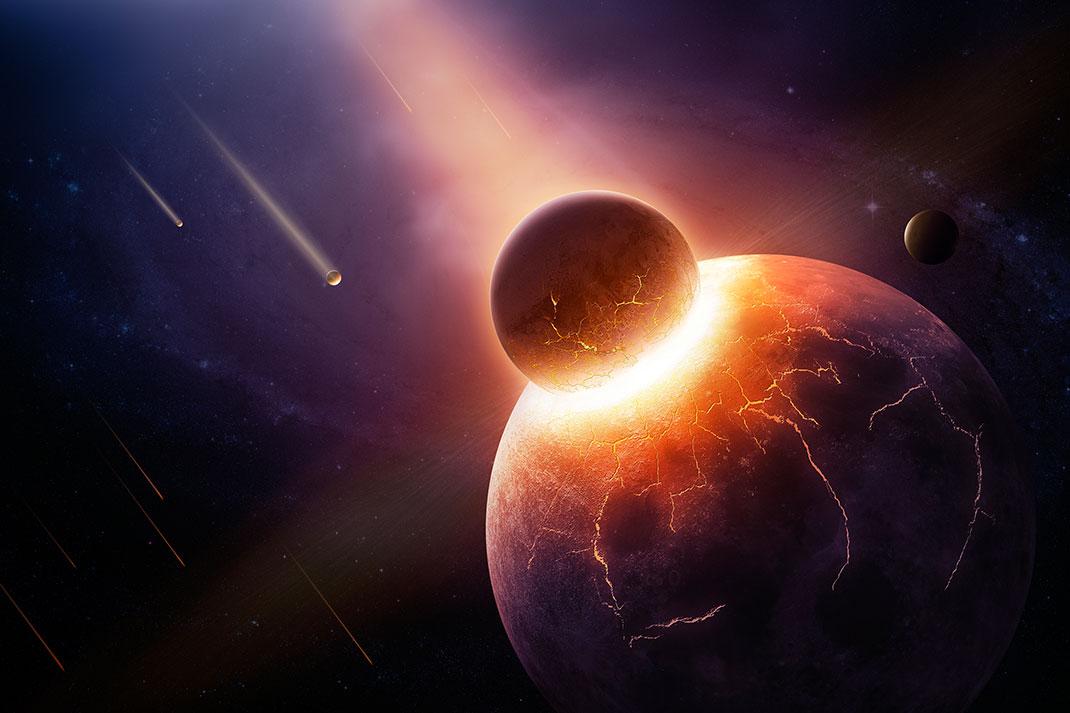 Une collision planétaire via Shutterstock