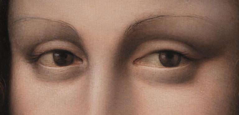 Les sourcils de La Joconde du musée du Prado
